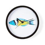 Bluehead Wrasse Wall Clock
