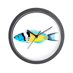 Bluehead Wrasse Wall Clock