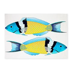 Bluehead Wrasse 5'x7'area Rug