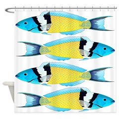 Bluehead Wrasse Shower Curtain