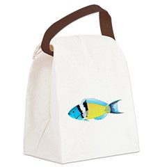 Bluehead Wrasse Canvas Lunch Bag