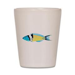Bluehead Wrasse Shot Glass