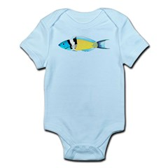 Bluehead Wrasse Body Suit