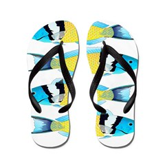 Bluehead Wrasse Flip Flops