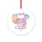 Hengshan China Map Ornament (Round)