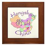 Hengshan China Map Framed Tile