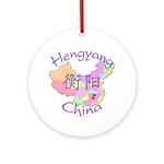 Hengyang China Map Ornament (Round)