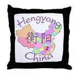 Hengyang China Map Throw Pillow