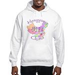 Hengyang China Map Hooded Sweatshirt