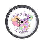 Huaihua China Map Wall Clock