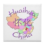 Huaihua China Map Tile Coaster