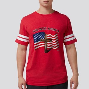 God Bless American With US Flag and T-Shirt