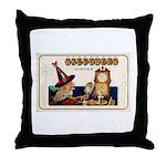 Halloween Witch & Clock Throw Pillow