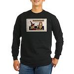 Halloween Witch & Clock Long Sleeve Dark T-Shirt