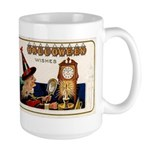 Halloween Witch & Clock Large Mug