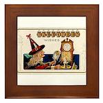 Halloween Witch & Clock Framed Tile