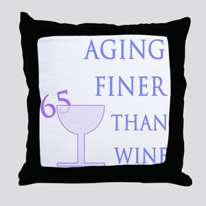 Witty 65th Birthday Throw Pillow