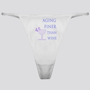 Witty 45th Birthday Classic Thong