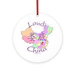 Loudi China Map Ornament (Round)
