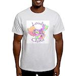 Loudi China Map Light T-Shirt