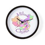 Miluo China Map Wall Clock