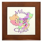 Miluo China Map Framed Tile