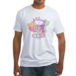Miluo China Map Fitted T-Shirt