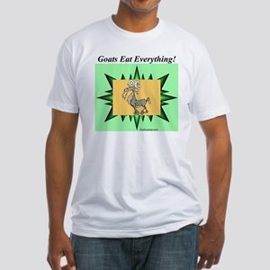"""Goats Eat Everything"" Fitted T-Shirt"