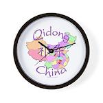 Qidong China Map Wall Clock