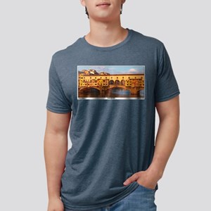 Florence - Morning at Ponte Vecchio- Pano T-Shirt