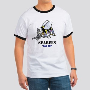 "SEABEES ""Can Do"" Ringer T"