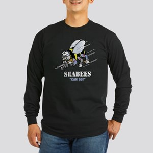 "SEABEES ""Can Do"" Long Sleeve Dark T-Shirt"