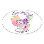 Shuangpai China Oval Sticker (10 pk)