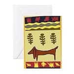 Weiner Dog Greeting Cards (Pk of 10)