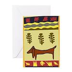 Weiner Dog Greeting Card