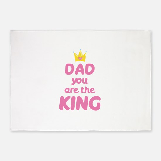 Dad you are the King 5'x7'Area Rug