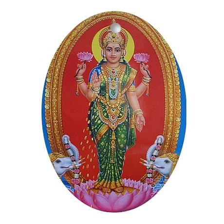 Lakshmi Ji Oval Ornament