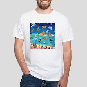 Raining Cats & Dogs in Lanikai White T-Shirt