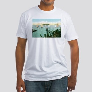 Bar Harbor Maine ME Fitted T-Shirt