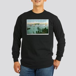 Bar Harbor Maine ME Long Sleeve Dark T-Shirt
