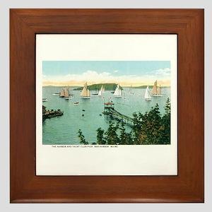 Bar Harbor Maine ME Framed Tile