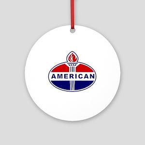 American Oil Round Ornament