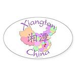 Xiangtan China Oval Sticker (10 pk)