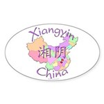 Xiangyin China Oval Sticker (10 pk)