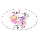 Xinhua China Oval Sticker (10 pk)