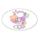 Yiyang China Oval Sticker (10 pk)