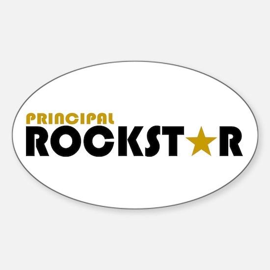 Principal Rockstar Oval Stickers