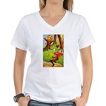 Busy Jack Women's V-Neck T-Shirt