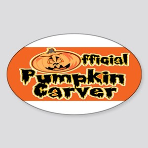 Official Pumpkin Carver Oval Sticker