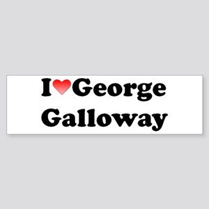 I Heart George Galloway (+Quote) Bumper Sticker
